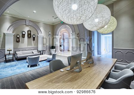 luxury lobby in modern hotel