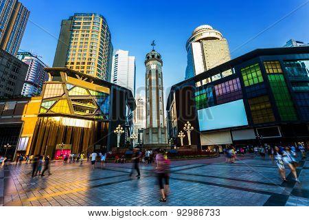 modern walking street in Chongqing