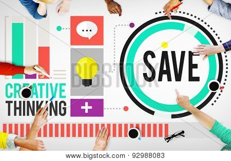 Save Savings Salary Payment Income Concept