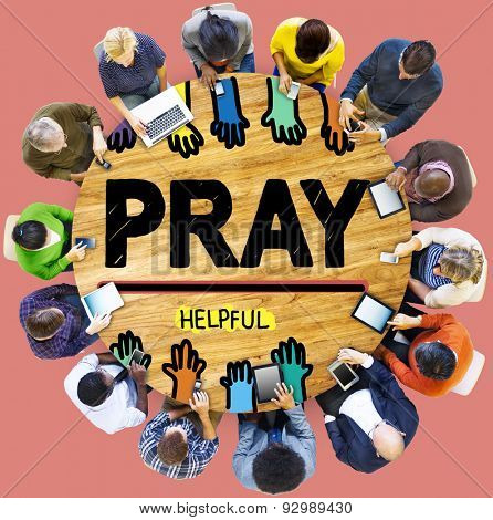 Pray Praying Hope Help Spirituality Religion Concept