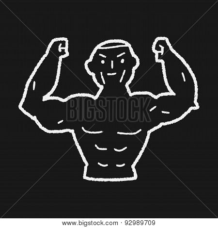 Strong Muscle Doodle