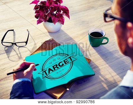 Target Goal Aim Objective Business Success Concept