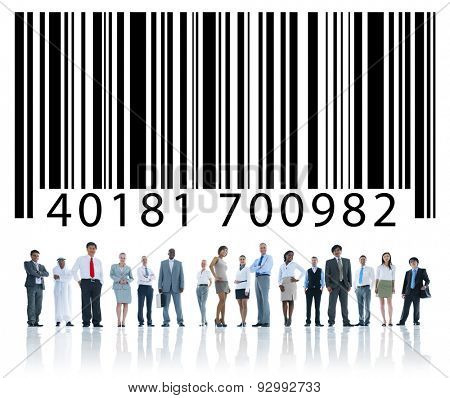 Bar Code Digital Information Technology Purchasing Concept
