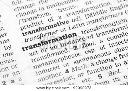 Dictionary Definition Transformation