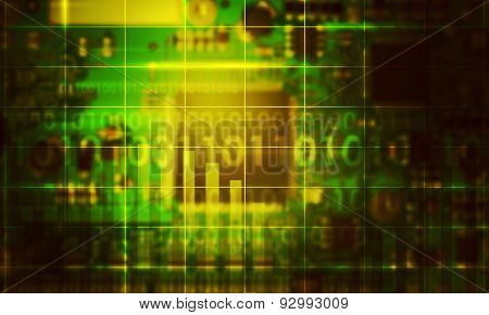 Abstract background with baseboard
