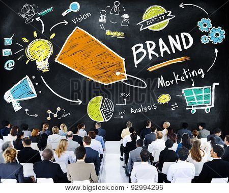 Diverse Business People Conference Seminar Brand Concept