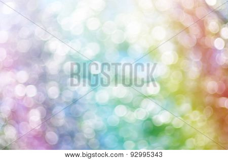 Rainbow multicolor bokeh. Element of design.