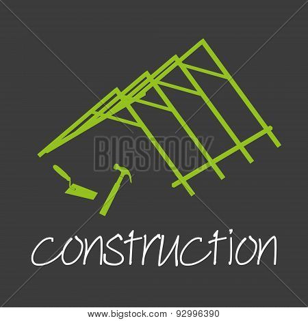 Construction Industrial Design Banner And Background Eps10