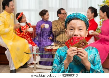 Child With New Year Greetings