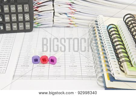Vacuum Tubes Blood Samples And Notebook