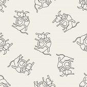 foto of taurus  - Taurus Constellation Doodle - JPG