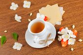 pic of jasmine  - white cup of green tea - JPG