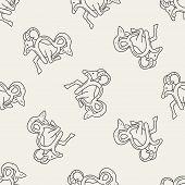 stock photo of capricorn  - Capricorn Constellation Doodle - JPG