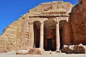 stock photo of pilaster  - The Garden Hall in old city of Petra Jordan - JPG