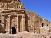 picture of pilaster  - The Tomb of Roman Soldier in Petra Jordan - JPG