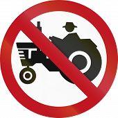 foto of traffic rules  - Colombian traffic sign - JPG