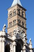 foto of mary  - Belfry of Saint Mary Major Basilica in Rome - JPG