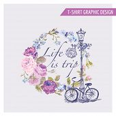 picture of shabby chic  - Floral Shabby Chic Graphic Design  - JPG