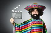 pic of hairy  - Funny hairy mexican with movie clapper - JPG