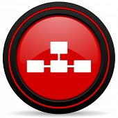 foto of cisco  - database red glossy web icon  - JPG