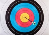 picture of archery  - Arrows in archery target - JPG
