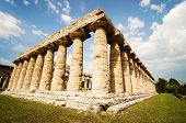 picture of ceres  - Temple of Hera the famous Paestum archaeological site  - JPG