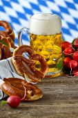 pic of pretzels  - Fresh pretzels in a breadbasket - JPG