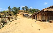 stock photo of shan  - A Dog In Hill Tribe Village - JPG