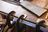 stock photo of work bench  - Wood working - JPG