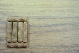 image of lineup  - lineup of wood block for background used - JPG