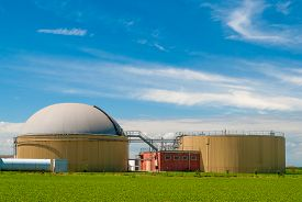 pic of biogas  - A plant for the production of biogas - JPG