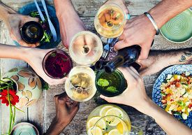 image of champagne color  - Food Beverage Party Meal Drink Concept - JPG