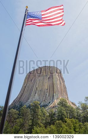 America's 1st National Monument, the Devils Tower of Wyoming.