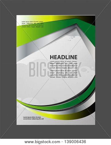 Abstract Flyer or Cover Design. design for business flyer vector