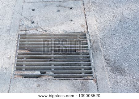 Steel Sewer Cover or Manhole cover sewer grate on the floor