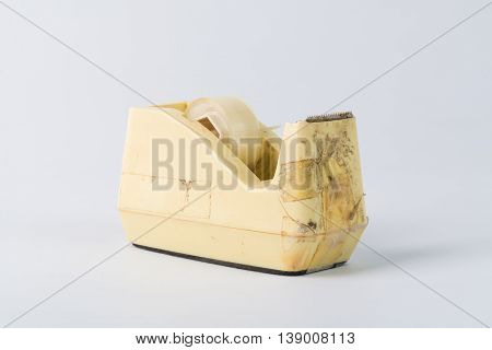 Dirty Scotch Tape Podium On White Background