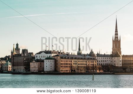 Old Town (gamla Stan) In Stockholm, Sweden