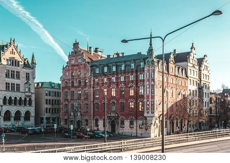 Buildings And Streets Of Stockholm, Sweden