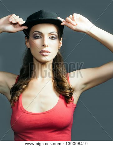 Stylish Woman In Cap