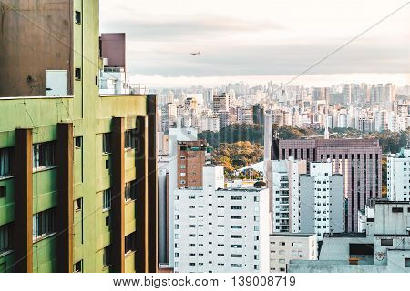Elevated View Of Buildings Of Sao Paulo Metropolitan Area, Brazil
