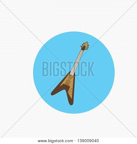 Icon of an electric bass guitar vector