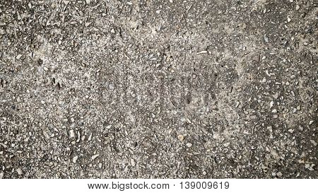 gray grained grunge concrete macadam asphalt background