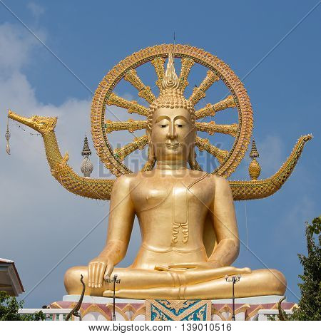 Big Buddha statue on Koh Samui Thailand . Close up