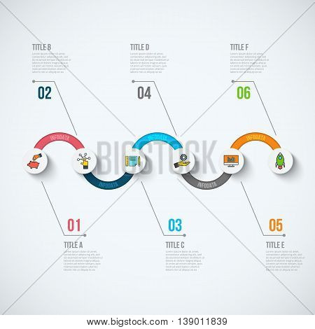 Abstract infographics number options template. Vector illustration. Can be used for workflow layout, diagram, business step options, banner, web design