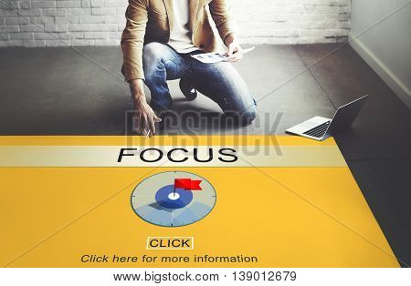 Focus Determine Focal Point Spotlight Vision Concept