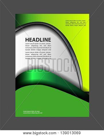 vector business brochure, flyer template abstract deisgn