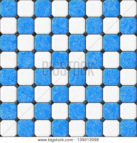 blue white black floor tiles seamles pattern texture background