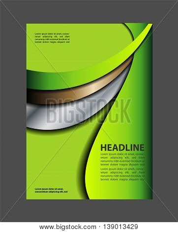 Abstract Flyer or Cover Design. vector business marketing brochure, poster template