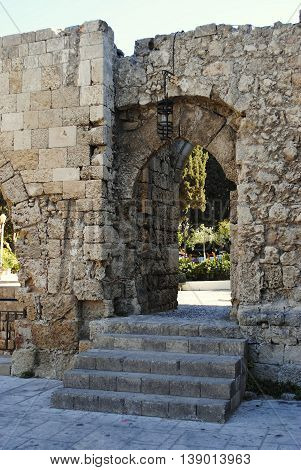 entrance to the ancient parkland in Rhodes