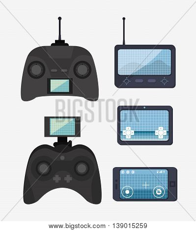 remote control drone isolated icon design, vector illustration  graphic